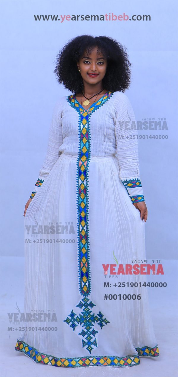 #0010006 Simple Ethiopian Traditional Dress