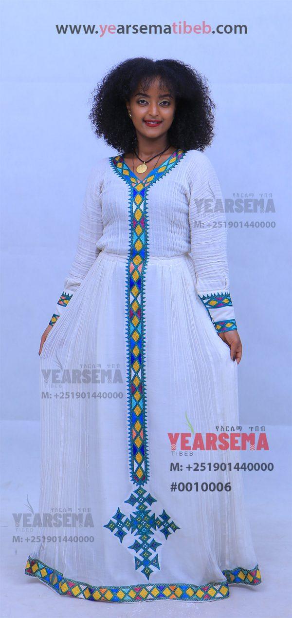 #0010006 Simple Ethiopian Traditional Dress